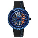 Auto Rad Felge Nabe Herren Uhr Kreatives Design Männliche Quarz Schwarz Leder Armbanduhren 23cm Design 1