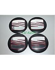 SEAT 4 stuks x 90 mm auto metalen badge sticker wiel naafdoppen centrum cover
