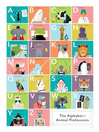 Plakat Das Alphabet der Tierberufe