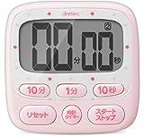 dretec(ドリテック) 大画面タイマー デジタル 時計付き ピンク T-566PK