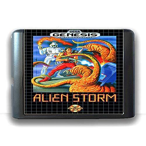 Jhana Alien Storm pour carte de jeu Sega MD 16 bits pour Mega Drive pour Console de jeu vidéo Genesis PAL USA JAP (US EU Shell)