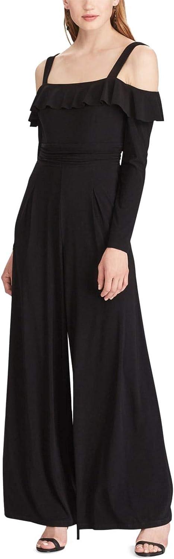American Living Womens OffTheShoulder WideLeg Jumpsuit Black, 8