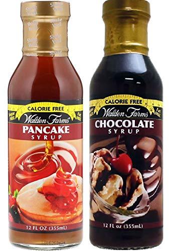 【2個セット】カロリーフリー Walden Farms ウォルデンファーム パンケーキ355ml&チョコレートシロップ355ml [並行輸入品]