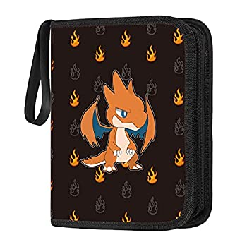 POKONBOY Carrying Case Binder Fit for Pokemon Cards Holder 400 Baseball Card Sleeves Compatible with Pokemon Binders for Cards Perfect for Skylanders Top Trumps and Baseball Card Binder