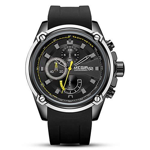 Relojes de Negocios de Moda analógicos Impermeables para Hombres-C