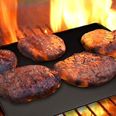 Grill Magic - Grill Mats - Reusable Non-Stick BBQ Grill Sheets - High Heat Resistant Grill Mat for Gas and Charcoal Grills - Great BBQ Accessory and Gift for Outdoor Grilling and Cooking