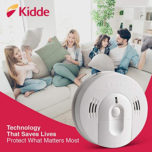 Kidde 21026043 Battery-Operated (Not Hardwired) Combination Smoke/Carbon Monoxide Alarm with Voice Warning KN-COSM-BA , White