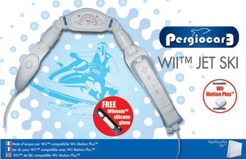 Blue Label Entertainment - Manillar de moto de agua para mando de Wii
