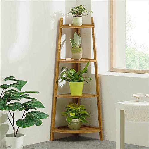 TX ZHAORUI Fleur Stand Plant Présentoir Bamboo Vis Sol Multifonctionnel succulento séjour Support séjour 50 * 115CM