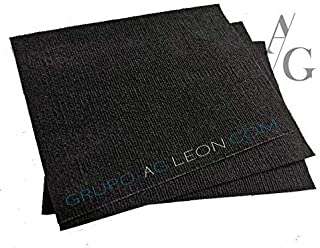 Alfombra para tapete sanitizante repuestos set 3 pzas negro medida 38x28 cm