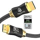 True HQ™ - Cavo HDMI 2.1, 8 K, 3 m, 48 Gbps, ultra alta velocità, cavo intrecciato 8 K con Ethernet, 8 K,...