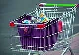 My Home Sac de courses pliable pour tous les chariots de courses, sac de courses, sac de courses, sac de courses Violet