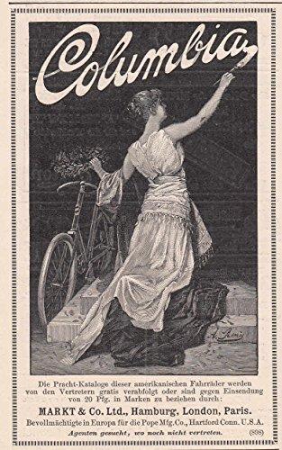 Radfahren/Radsport - Anzeigen-Werbung für Columbia Fahrräder. [Grafik]