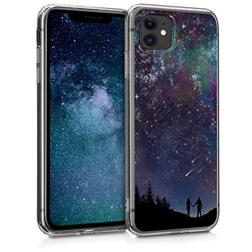 kwmobile Hülle kompatibel mit Apple iPhone 11 - Hülle Handy - Handyhülle Sternenhimmel Paar Blau Pink Schwarz