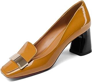 Nine Seven Women's Leather SquareToe Heel Pump