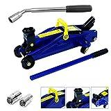 DICN Car 2 Ton Hydraulic Jack Trolley Lifting Range 5.3-12.6inch + Telescoping Lug Wrench Wheel Brace...