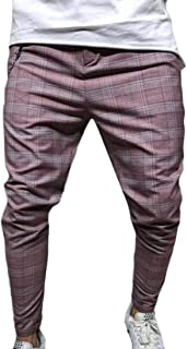 Lutratocro Mens Stretchy Corduroy High Waist Straight Leg Business Pants