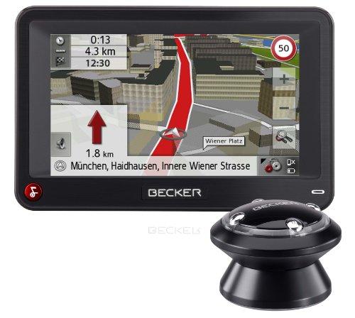 Becker Professional 43 Control inkl. TMC Pro (10,9 cm Display, Europa 43, Premium 3D, kabellose Funkfernbedienung, Bluetooth, Sprachsteuerung, Becker EasyClick Pro HR Aktivhalter) schwarz