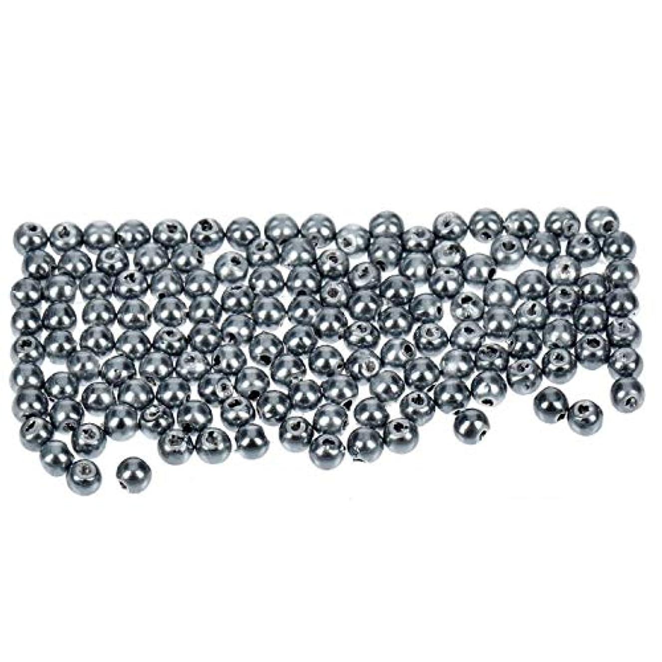 Efco Wax Beads, Plastic, Anthracite, 3 mm Diameter, 125-Piece