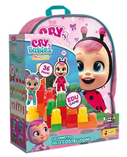 Lisciani Giochi Cry Babies Zainetto Costruzioni Baby 36 Pezzi, 83763