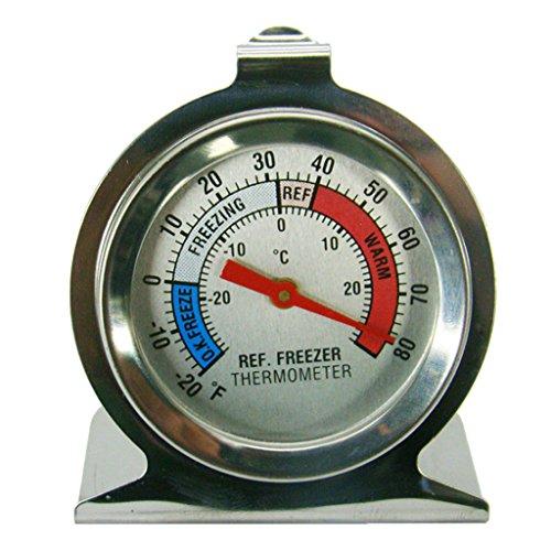 Amuzocity Thermomètre à Cadran Pour Réfrigérateur Et Congélateur En Acier Inoxydable De Kitchen Craft