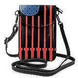 Ahdyr Kettlebell Barbell U.S.A Flag Crossbody Monedero para teléfono celular Mini bolso de hombro