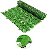 BPIL Artificial Ivy Hedge Privacy Fence Wall Screen, Leaf and Vine Decoration for Outdoor Decor Green 1 x 3 m