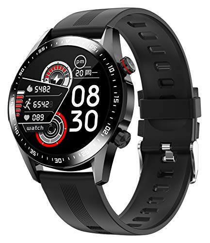 Smart Watch Bluetooth Call Heart Rate Monitor IP68 Waterproof Fitness Tracker with Blood Pressure Pedometer Calorie Counter Music Control Smartwatches for Men