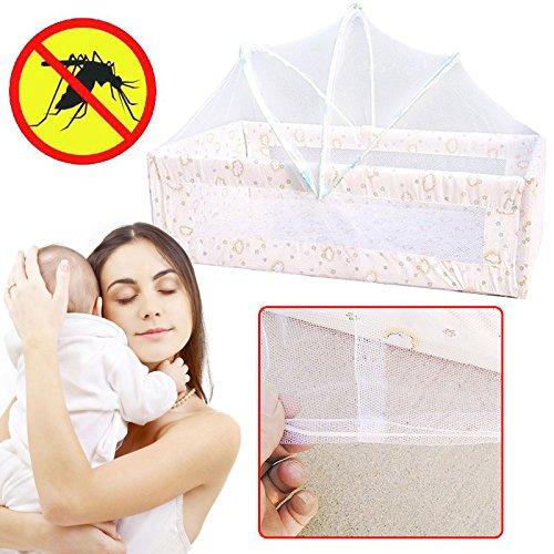 Kicode Estate Tendalino infantile del tetto della base del bambino Pieghevole Anti Mosquito Net Lettino per neonati per neonati Mesh di rete