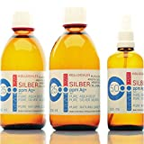 600ml Argento colloidale - 2 bottiglie da 250ml / 25ppm argento colloidale + spray (100ml ...