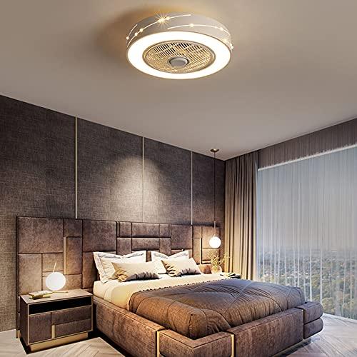 HOVERLY Ventilador De Techo Inverso, Araña De Ventilador LED Moderna con Atenuación De Control Remoto, Lámpara De Ventilador Silenciosa Es Adecuada para Comedor, Dormitorio