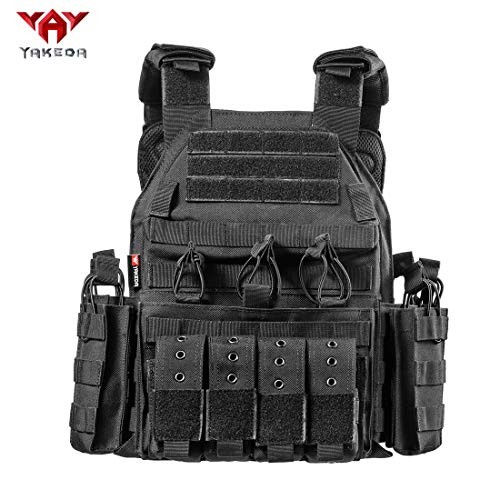 vAv YAKEDA Tactical CS Adjustable Vest (Black-3)