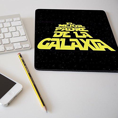 Alfombrilla para ratón regalo original día del padre 'El mejor padre de la galaxia'