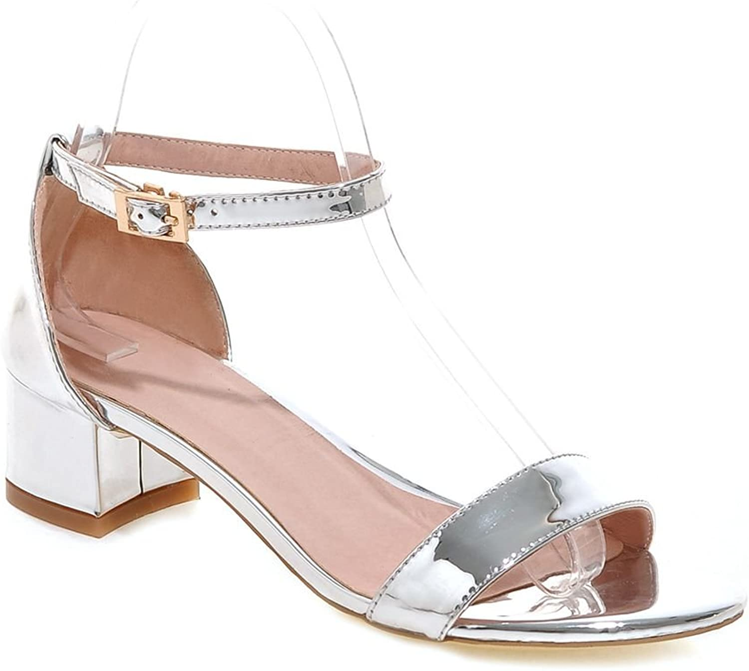 KingRover Women's Sexy Open-Toed Buckle PU Sandals