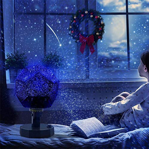 60.000 Sterne Original Home Planetarium, Caronan Star Lampe Nacht Romantische Planetarium Star Celestial Projektor Nachthimmel Lampe für Room Home Decor (Blaues Licht)