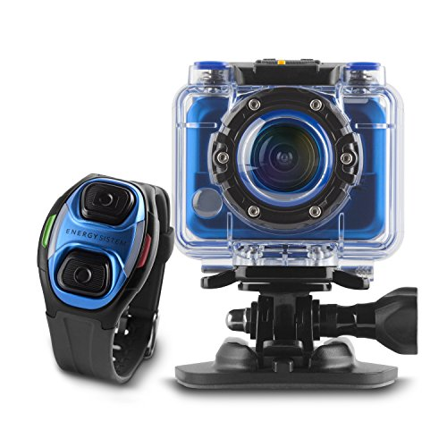 Energy Sistem Sport Cam Pro - Videocámara deportiva (Full HD 1080p, 30 fps, 5 MP, accesorios Pro pack, resistente al agua)