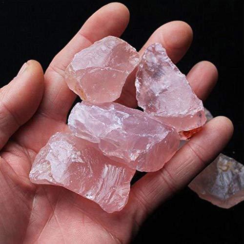 Piedra de Cristal de Cuarzo Rosa Natural con Tratamiento de Piedras minerales, Piedra curativa de Punto de Piedra, Varita Hexagonal, decoración de Cristal Natural, 2 – 3 cm, 1 Pcs