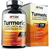 High-Strength Turmeric Curcumin Capsules 1800mg - 53% More Absorption with C-Perine - MICRONISED for 5X More BIOAVAILABILITY - Slow-Release Capsules for 4X Longer Half Life - 100% Vegan & UK Made