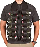 12-Pack Beer Drinking Vest By EZ Drinker (Black and Camo)