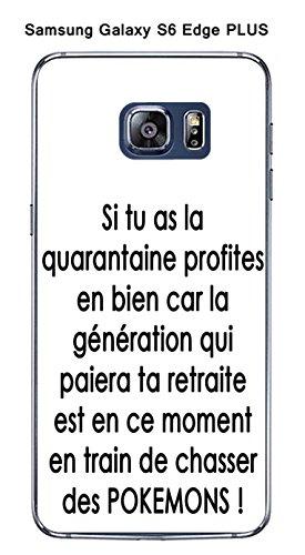 Onozo 'Cover Samsung Galaxy S6Edge Plus Design Citazione Pokemons Testo Nero Sfondo Bianco