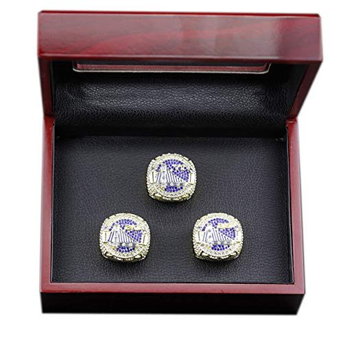 TYTY NBA Golden State Warriors 2018 Basketball Professional League Championship Ring, Thompson 11#, Curry 30#, Durant 35#, Combinazione di 3 Anelli,with Box,11#
