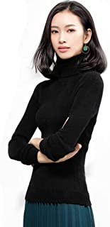 WANLN Otoño Invierno Gruesa Turn-Down Cuello de Alta Elasticidad Casual Mujer Jerseys de Punto Grueso de Cuello Alto suéte...