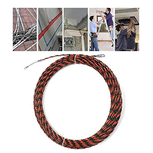 ZOYOSI 5-50 m Eléctrico Espiral Cable Empuje Conducto Serpiente Cable Rodder Fish Tape Wire Guide - 5M