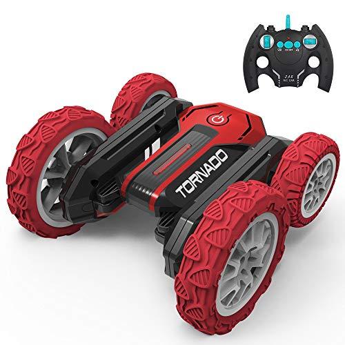 MUMUMI Conducción de doble cara 2.4G STUNT recargable RC CAR, LUZ Y MÚSICA Transporte de alta velocidad a alta velocidad Camión RC, 360 ° Rotación, Rolling y Dancing RC Buggy para niños y niñas Regalo