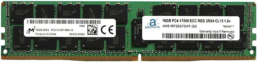 Adamanta 16GB (1x16GB) Server Memory Upgrade Compatible for Dell Poweredge, Dell Precision & HP Proliant Servers Processor DDR4 2133MHz PC4-17000 ECC Registered Chip 2Rx4 CL15 1.2v RAM