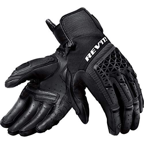 REV'IT! Motorradhandschuhe kurz Motorrad Handschuh Sand 4 Handschuh schwarz L, Herren, Tourer, Ganzjährig, Leder/Textil