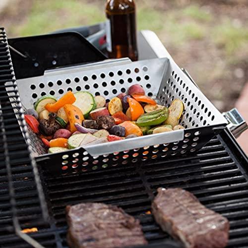 51VkCMduIVL. SL500  - QILIN 3er-Pack Grillkorb Set, Grillkörbe für Outdoor-Grill, Heavy Duty Edelstahl, Grillgeschenke für Männer, Grillzubehör für alle Grills & Raucher