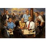 Donald Trump Präsident Malerei Great USA Art Poster Druck