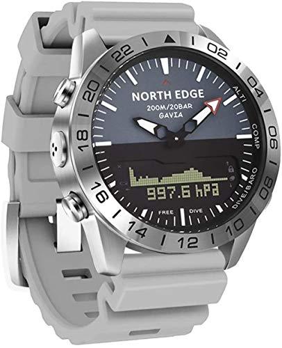 Deporte al aire libre reloj digital doble pantalla relojes 200 m impermeable multifunción altitud presión buceo cronómetro calorías contador brújula reloj de pulsera
