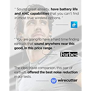 1MORE Wireless Earbuds Active Noise Cancelling, Bluetooth Headphones Dual Driver, WNR, 20H Playtime, IPX5 Waterproof, 4 Mics for Phone Call Work, Home Office